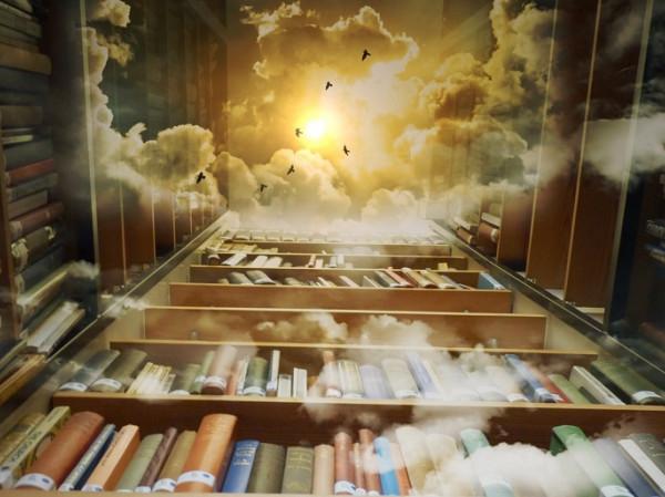 Estanterías con libros.