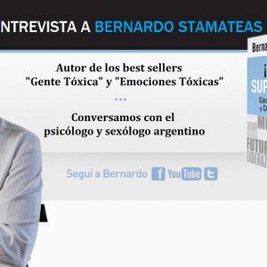 """Entrevista a Bernardo Stamateas, autor de """"Gente Tóxica"""""""