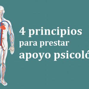 4 principios básicos para prestar apoyo psicológico en emergencias