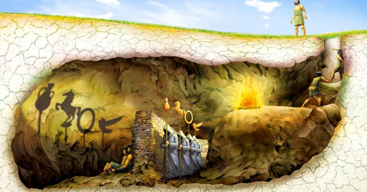 El mito de la caverna de Platón (significado e historia de esta alegoría)