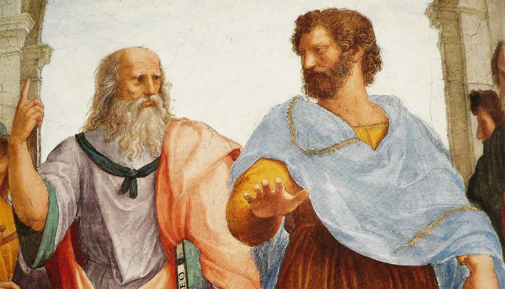 Resultado de imagen de Aristóteles y Platón