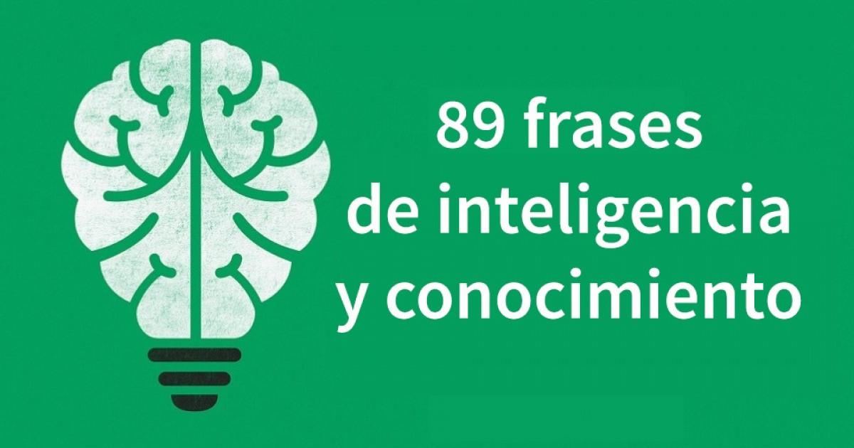 89 Frases Sobre La Inteligencia Y El Conocimiento