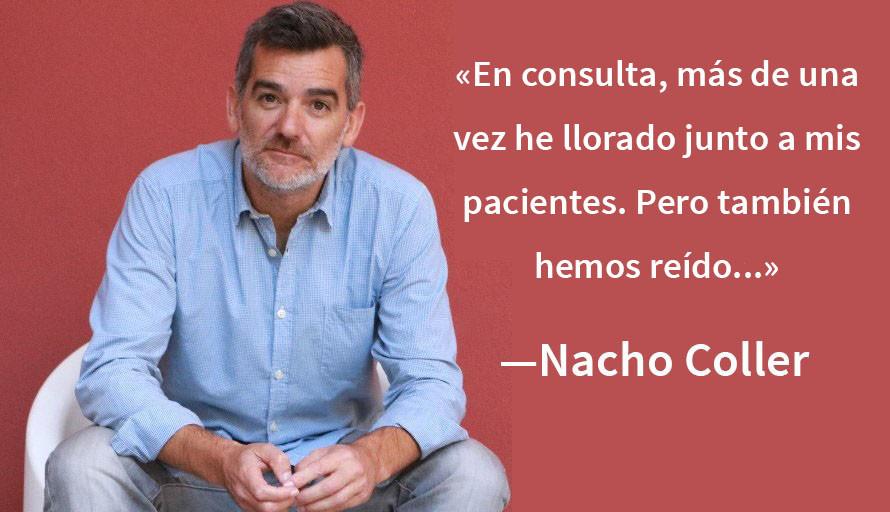 """Nacho Coller: """"El humor es terapéutico, ayuda a desdramatizar y a tomar distancia de los problemas"""""""