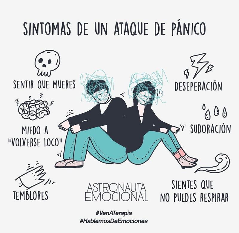 Síntomas del ataque de pánico