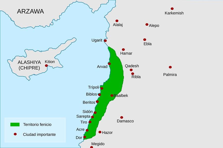 Mapa de los fenicios