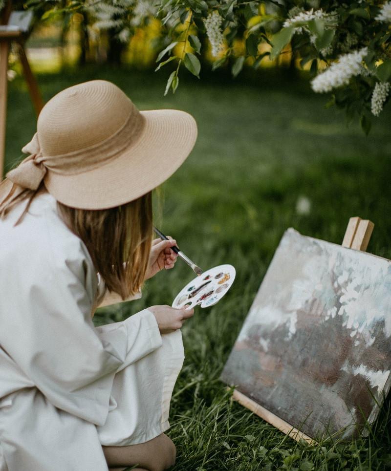 Pintando en arteterapia